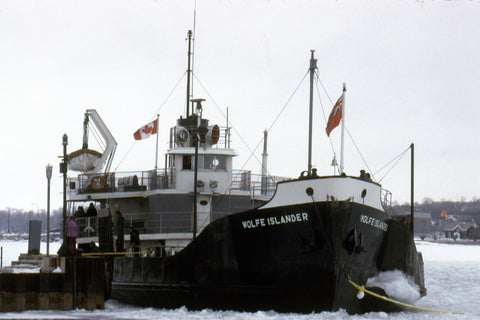 A closer view of The Wolfe Islander