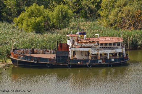 Dedicated Great Lakes historian and photographer, Bill Kloss, photographed the Upper Canada derelict in the Black River near Lorain, Ohio in May 2020