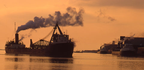 On December 14, 1972 I caught Avondale at sunset in Toronto Bay, heading for its winter berth