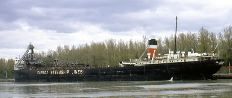 CSL's Hochelaga waiting in the Welland Canal on May 20, 1967