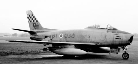 Wilf White's photo of 23038 is a Canadair Sabre 5 in 441 Squadron markings