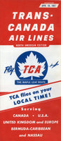 TCA North America Timetable for April 28, 1957