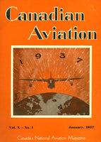 """Canadian Aviation"" magazine January 1937"