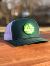 Load image into Gallery viewer, PIMENTO CHEESE TRUCKER SNAPBACK HAT GREEN