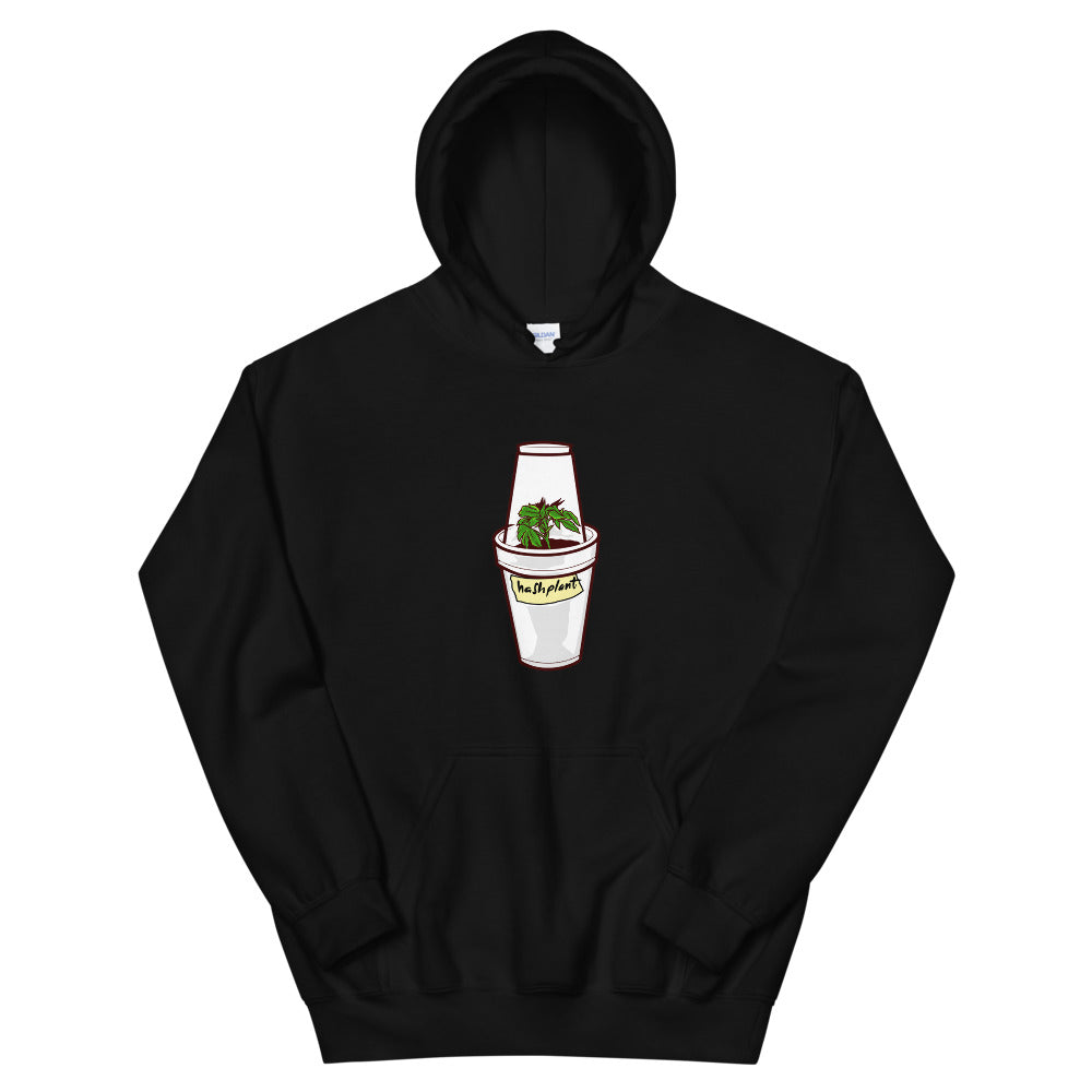 plastic cup with clone and dome hoodie