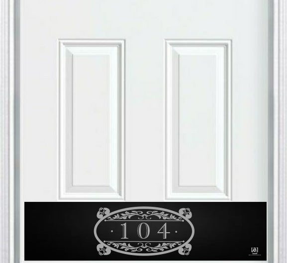Southern Roots Home Address Engraved Door Kick Plate