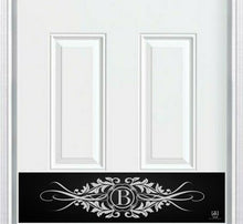 Load image into Gallery viewer, Acanthus Monogram Engraved Door Kick Plate