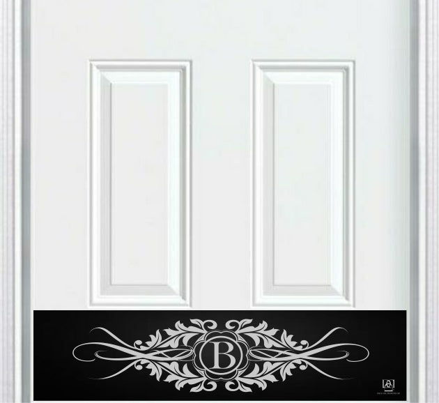 Acanthus Monogram Engraved Door Kick Plate