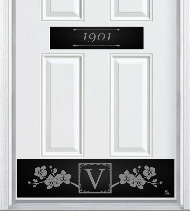 Victorian Engraved Address Accent Plate