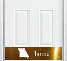 "Load image into Gallery viewer, ""Home State Silhouette"" Engraved Door Kick Plate"