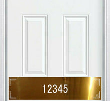 Load image into Gallery viewer, Home Address Brass Door Kick Plate