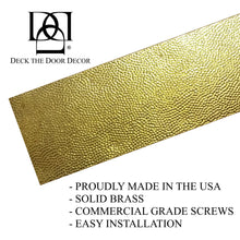 Load image into Gallery viewer, Hammered Embossed Premium Artisan Door Kick Plates for Interior or Exterior Doors