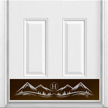 Load image into Gallery viewer, Mountain Monogram Engraved Door Kick Plate