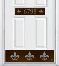 Load image into Gallery viewer, Fleur De Lis Engraved Address Accent Plate