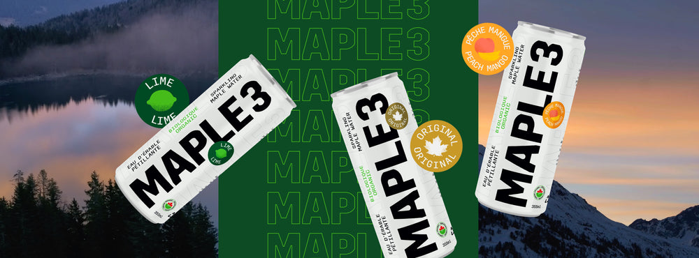 Maple 3 Launches a New Range of Organic Sparkling Maple Waters