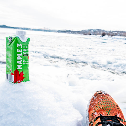 Running with maple water electrolytes