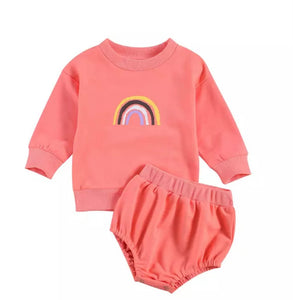 Rainbow Comfy Set Peach