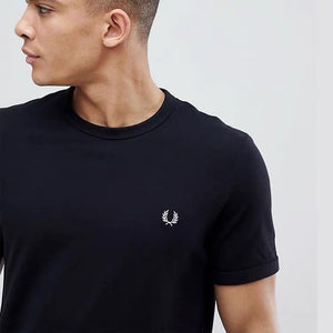 Fred Perry Black with Small Logo T-Shirt