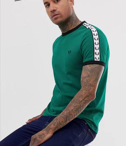 Fred Perry Taped Ringer T-shirt (Green)