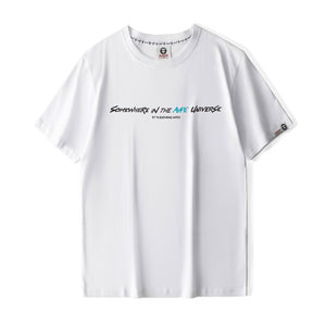 AAPE Somewhere in the Universe Tee (White with Blue Wording)