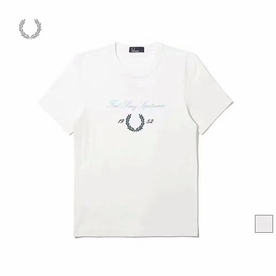 Fred Perry Archive Branded T-Shirt (White)