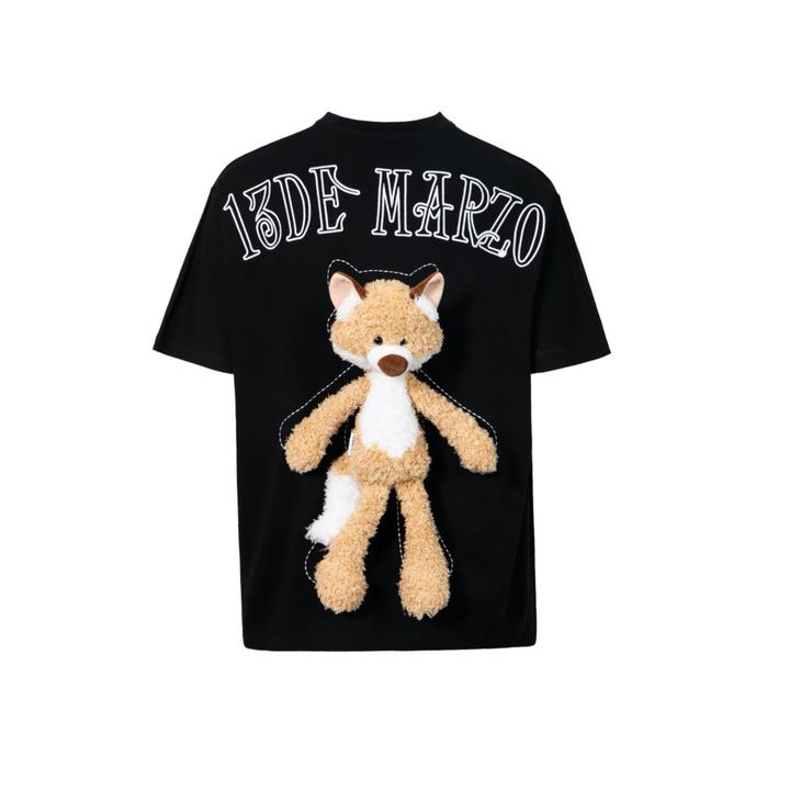 13 DE MARZO PLUSH FOX TOY TEE BLACK