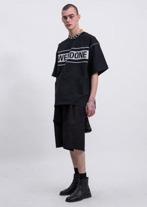 WE11DONE Black Reflective Logo T-Shirt