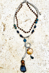 Acadia Two Strand Pendant Necklace