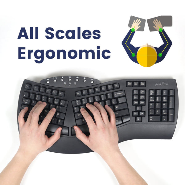 PERIBOARD-612 B - Wireless Ergonomic Keyboard