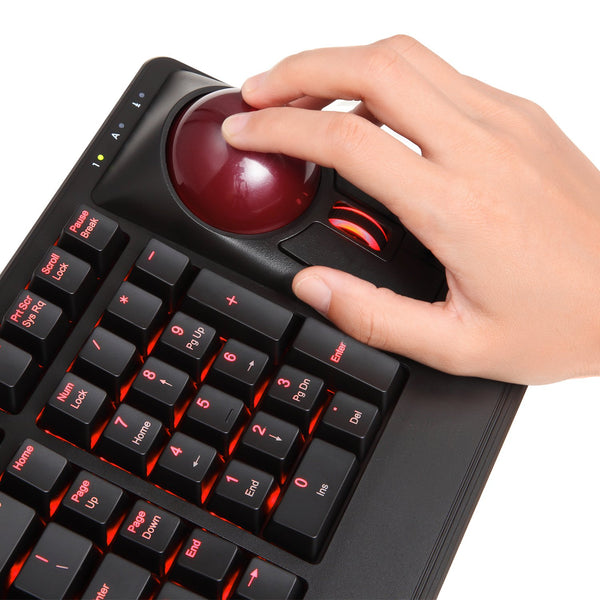 PERIBOARD-322 - Backlit Trackball Keyboard
