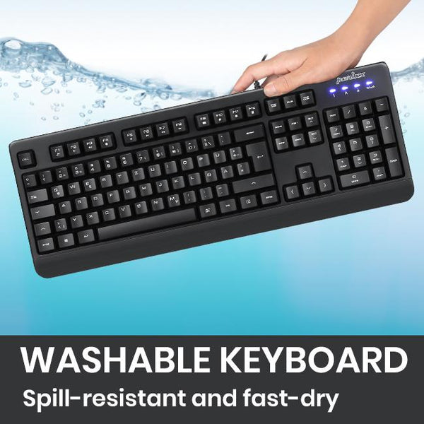 PERIBOARD-517 B - Wired Waterproof Keyboard
