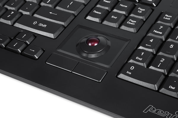 PERIBOARD-521 - Wired Trackball Keyboard
