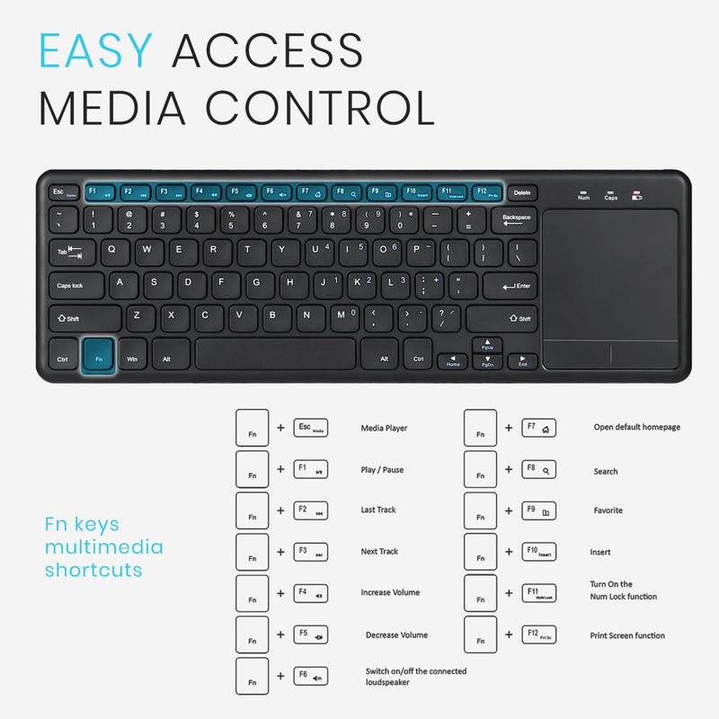 PERIBOARD-716 III - Wireless Touchpad Keyboard