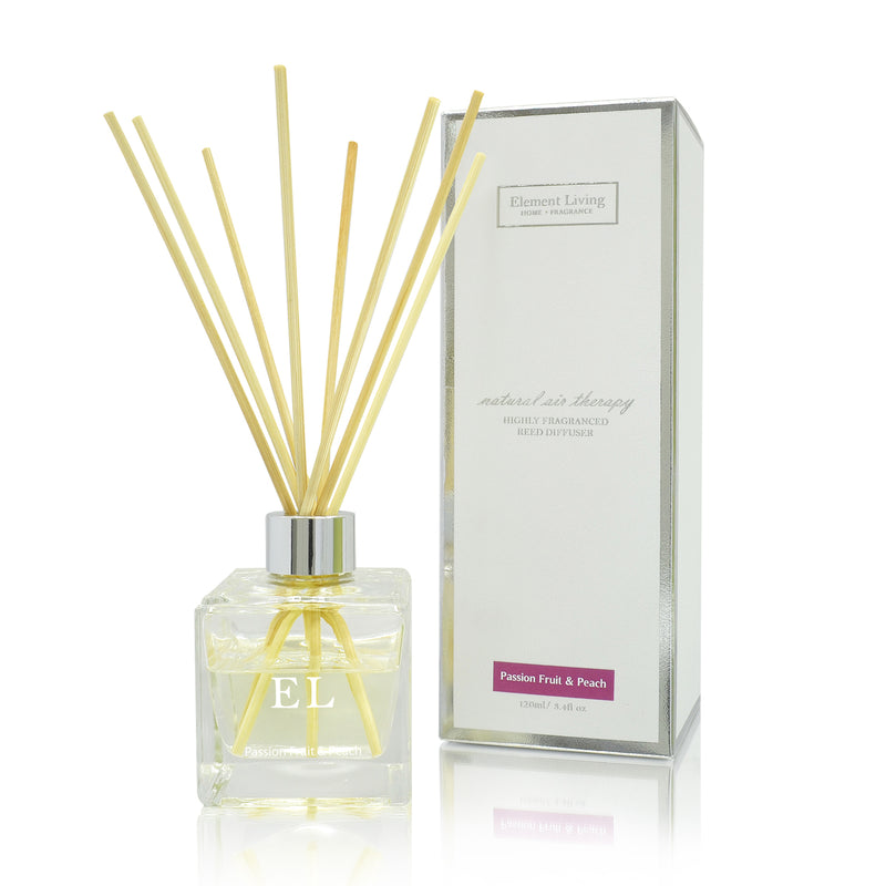 Passion Fruit & Peach Fragrance Diffuser | Home Fragrance | Reed Diffuser