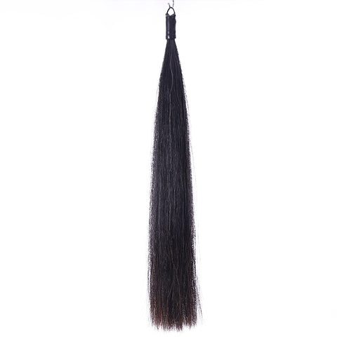 Y.J Tails Single Thickness Natural Black rubber top Horse Tail Extension 70-76cm B2S