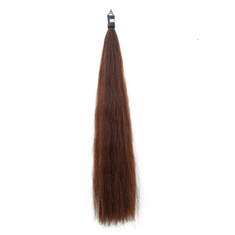 Y.J Tails Med Sorrel Rubber Top Horse Hair Tail Extension 1 Lb 34-36 inches C4