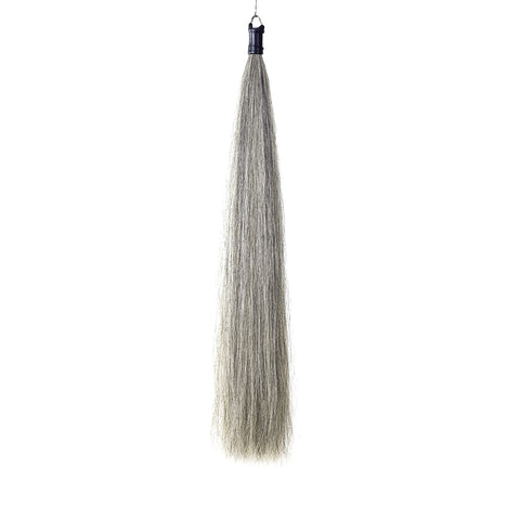 Y.J Tails Med Grey Rubber Top Horse Hair Tail Extension 1Lb 34-36 inches G2