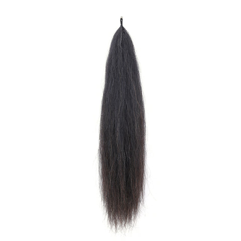 Y.J Tails Natural Black natural loop false tail double thickness 70-76cm aB2