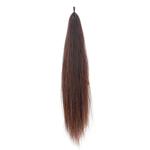 Y.J Tails Dark Chestnut natural loop false tail double thickness 70-76cm aC3