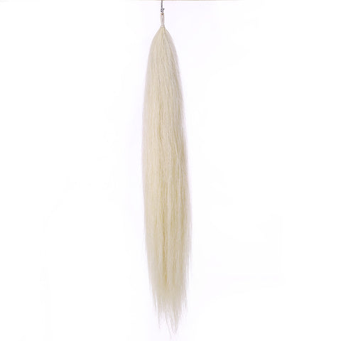 Y.J Tails Pure White natural loop false tail double thickness 70-76cm aW1