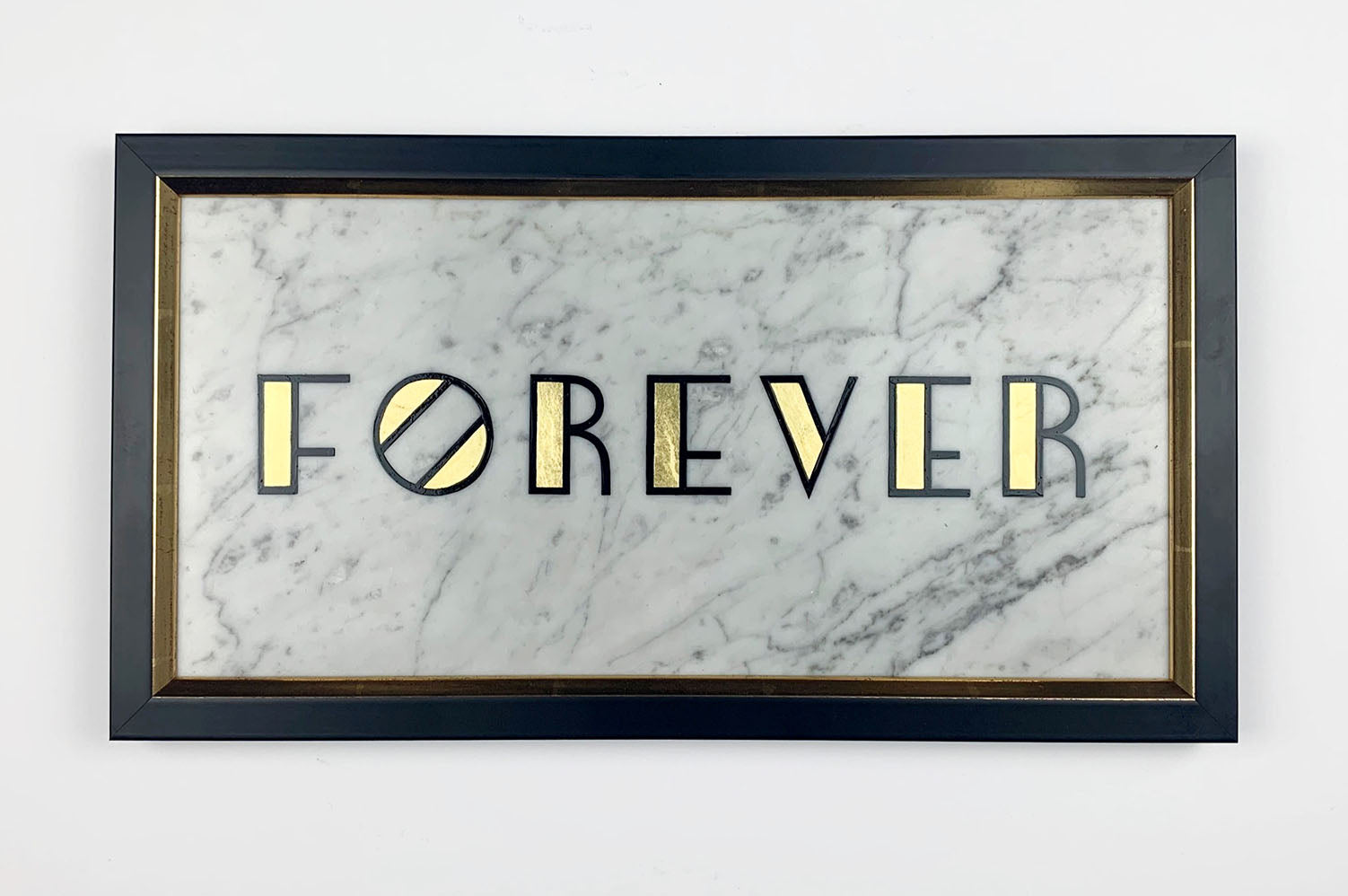 Forever Handpainted Lettering Gold on Marble - Daisy Emerson