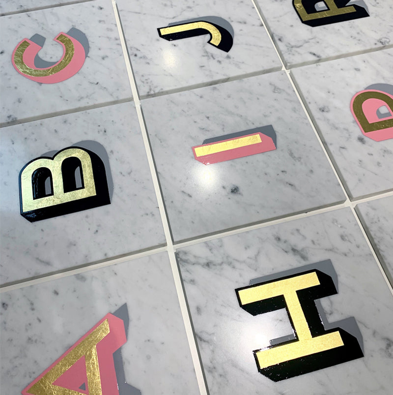 Marble Alphabet - Daisy Emerson - Hand Painted Lettering
