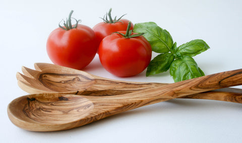 Hand Crafted Olive Wood Salad Servers