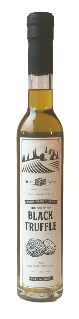 Kores Estate extra virgin olive oil infused with natural Black truffle