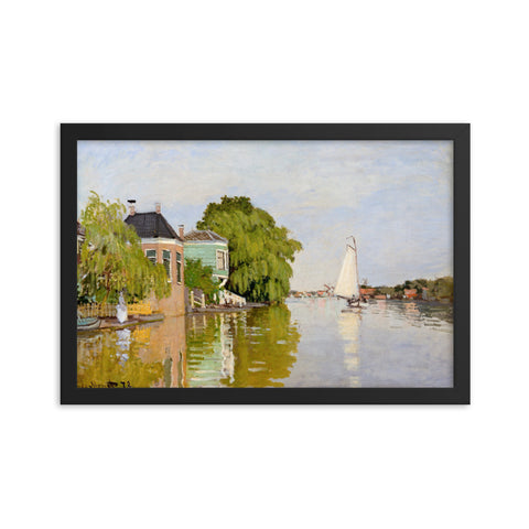 Gerahmter Kunstdruck 'Houses on the Achterzaan' Claude Monet