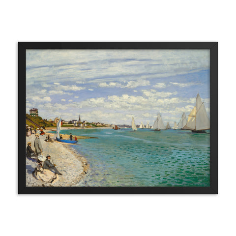 Gerahmter Kunstdruck 'Regatta at Sainte-Adresse' Claude Monet