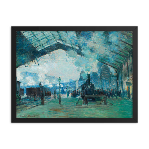 Gerahmter Kunstdruck 'Arrival of the Normandy Train, Gare Saint-Lazare' Claude Monet
