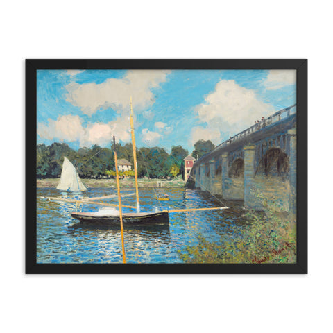 Gerahmter Kunstdruck 'The Bridge at Argenteuil' Claude Monet
