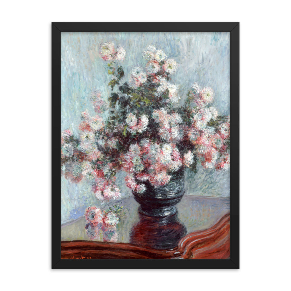 Gerahmter Kunstdruck 'Chrysanthemums' Claude Monet