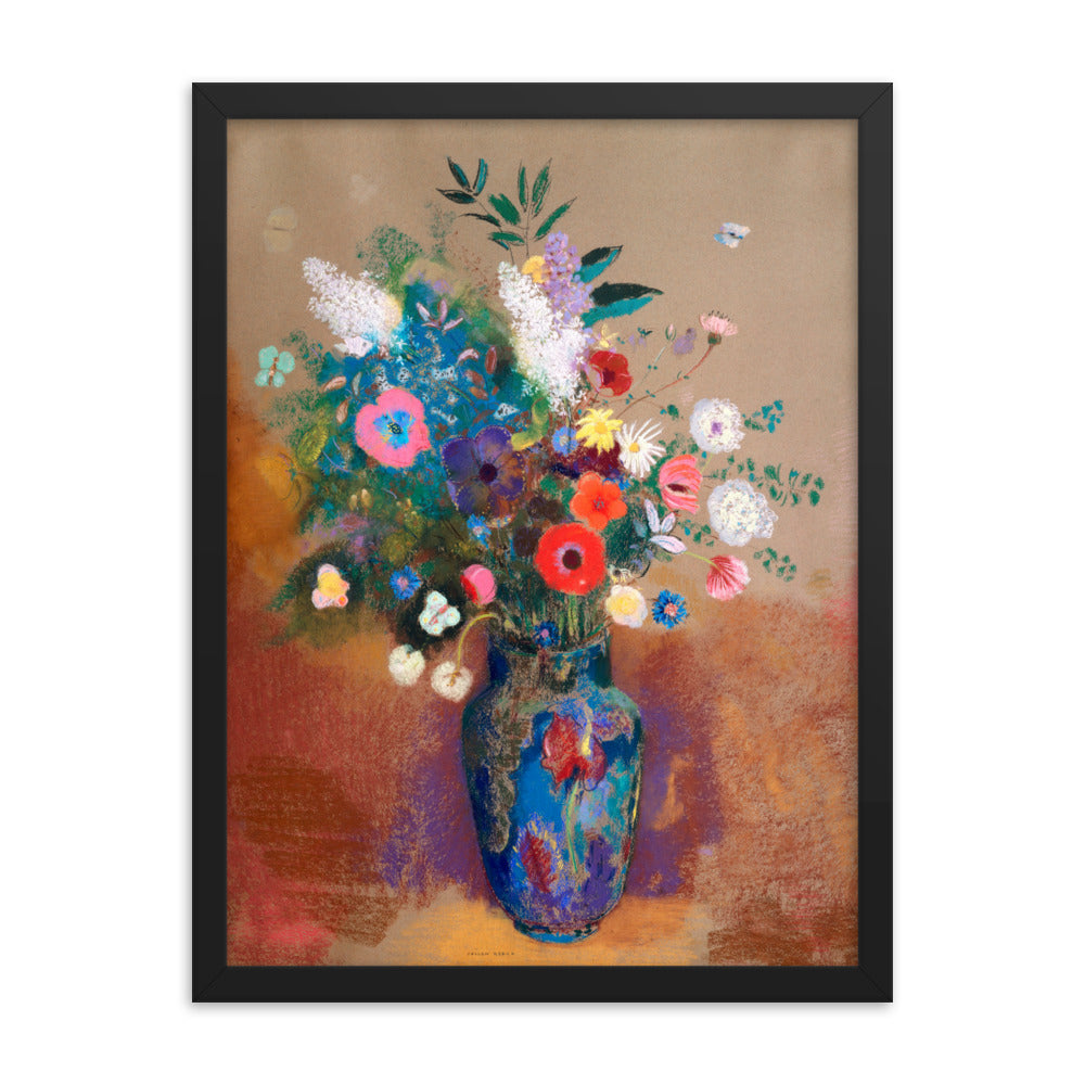 Gerahmter Kunstdruck 'Bouquet of Flowers' Odilon Redon